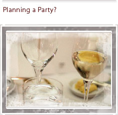 Let us plan your party
